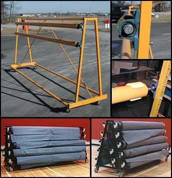 Thor Heavy Duty Castored Racks For Gym Floor Covers
